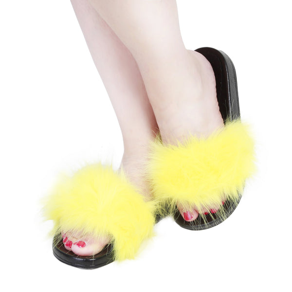 Ana Lublin black,yellow Women Flip Flops