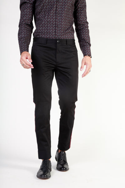 Dolce&Gabbana black,darkred Men Trousers