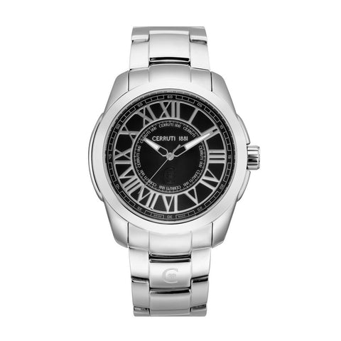 Cerruti silver, black Men Watches