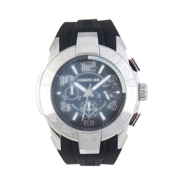 Cerruti black, silver Men Watches