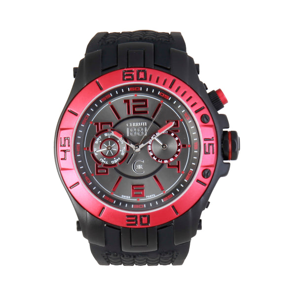 Cerruti black, red Men Watches