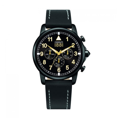Cerruti black, gold Men Watches