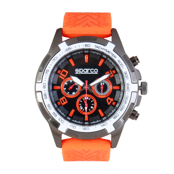Sparco orangered, white Men Watches