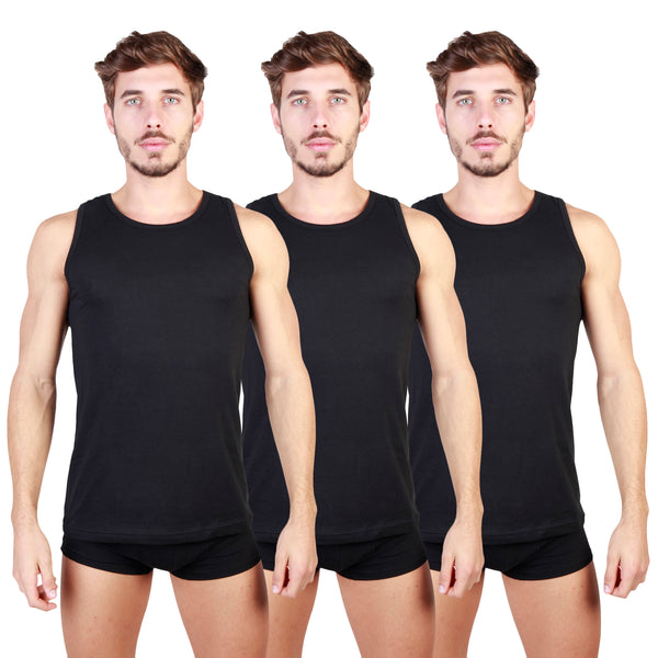Pierre Cardin Black Men Tank tops