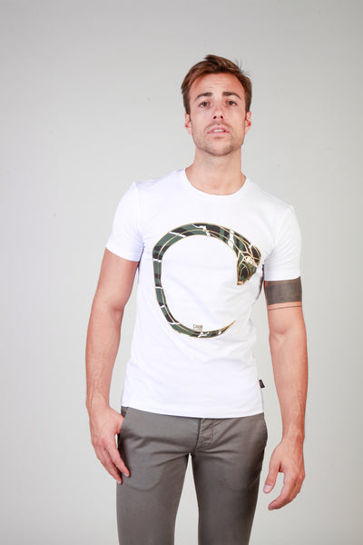 Cavalli Class white, gold Men T-shirts