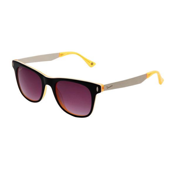 Vespa black, yellow Unisex Sunglasses
