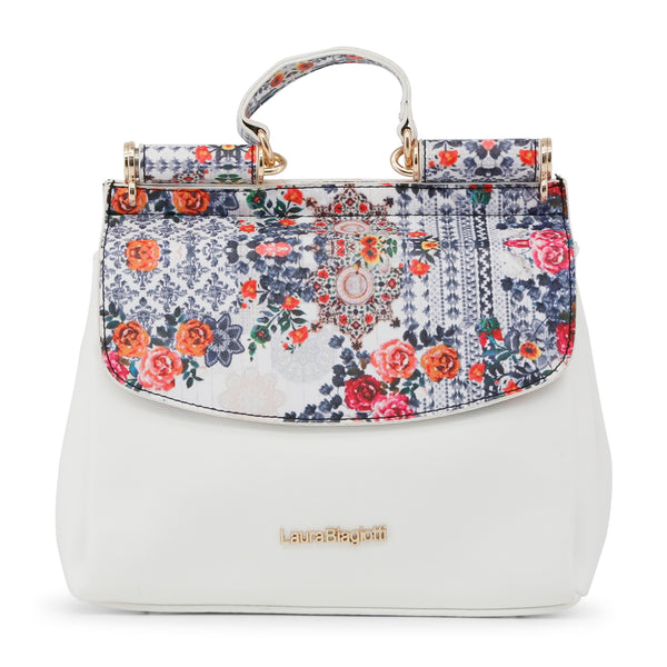 Laura Biagiotti white,blue Women Handbags