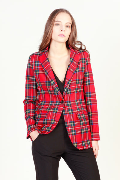 Imperial red,green Women Jackets