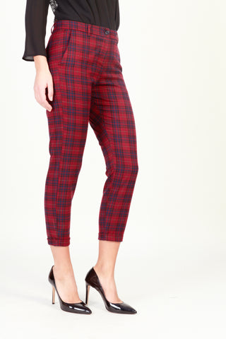 Imperial darkred,blue Women Trousers