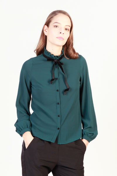 Imperial seagreen,black Women Shirts