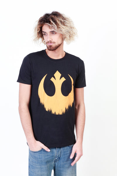 Star Wars black,yellow Men T-shirts