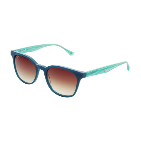 Vespa teal,saddlebrown Unisex Sunglasses