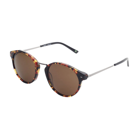 Vespa black,saddlebrown Unisex Sunglasses