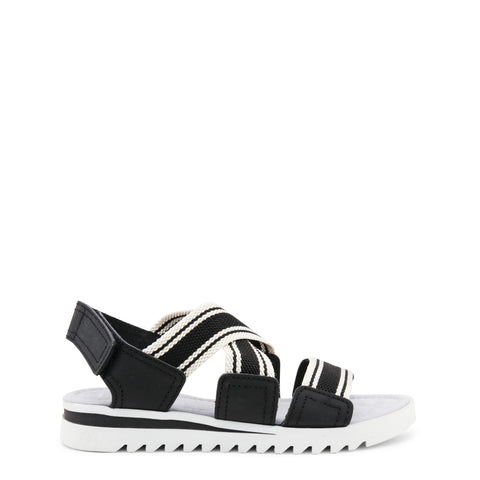Ana Lublin black,white Women Sandals