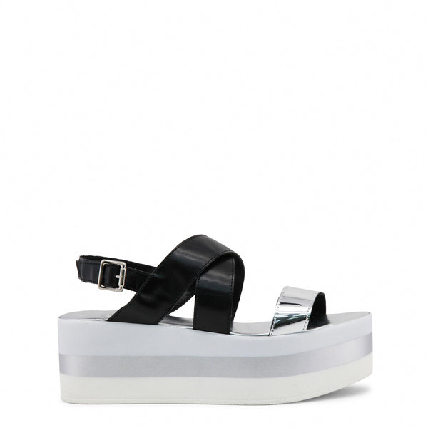 Ana Lublin black,silver Women Sandals
