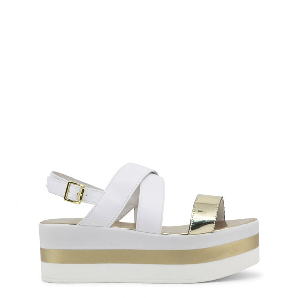 Ana Lublin white,gold Women Sandals