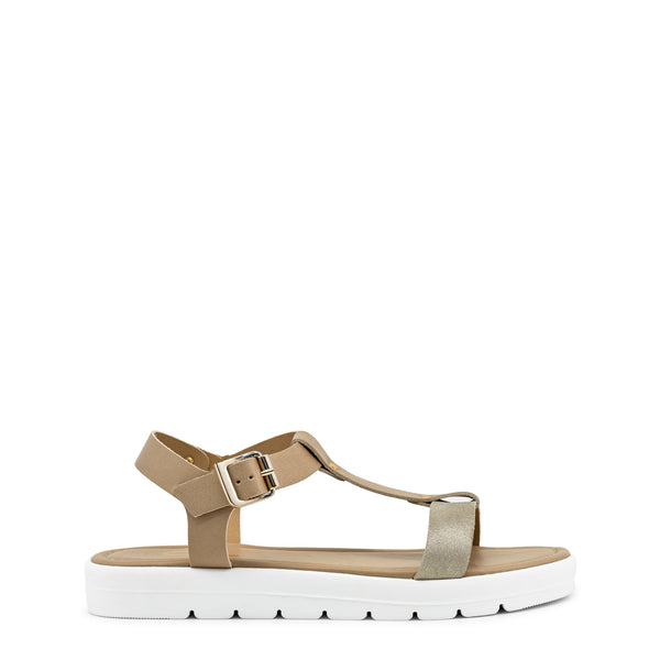 Ana Lublin tan Women Sandals