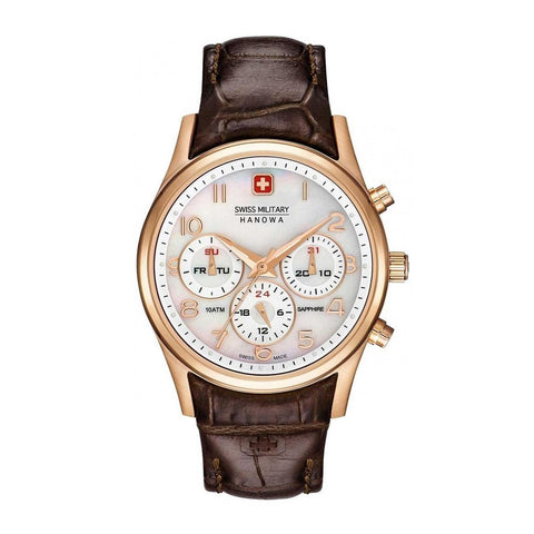 Swiss Military saddlebrown,white Women Watches