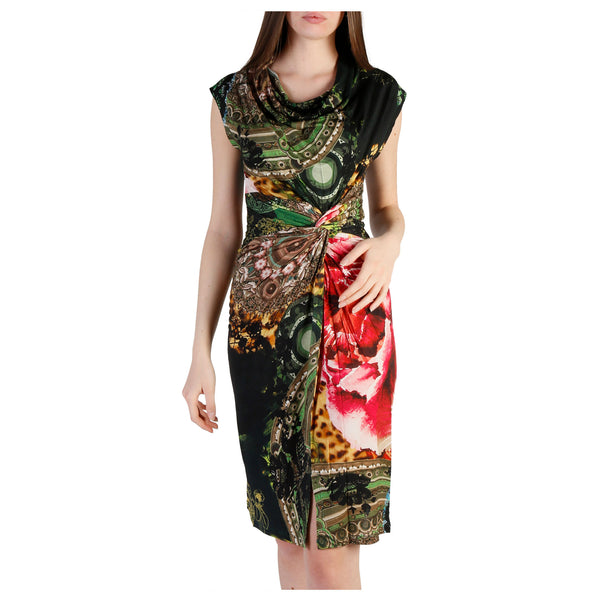 Desigual green,red Women Dresses
