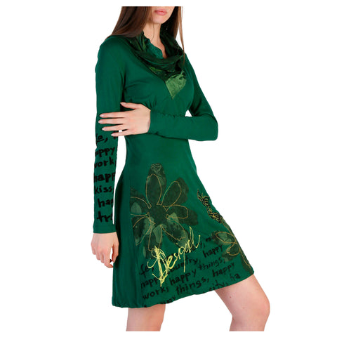 Desigual green,gold Women Dresses