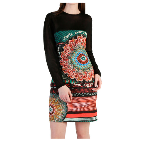 Desigual black,green Women Dresses