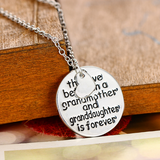The Love Between Grandma and Granddaughter Necklace Pendant Jewelry Family