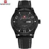 Luxurious NaviForce Wrist Watch Sports Leather Military Casual Quartz