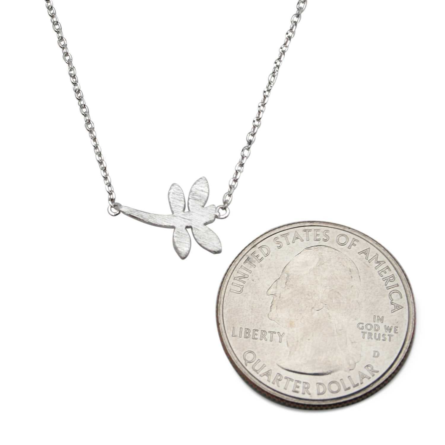 golddragonflylg gold index necklace dragonfly