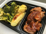 BONELESS RIBS- with roasted broccoli & roasted buttered sweet potatoes