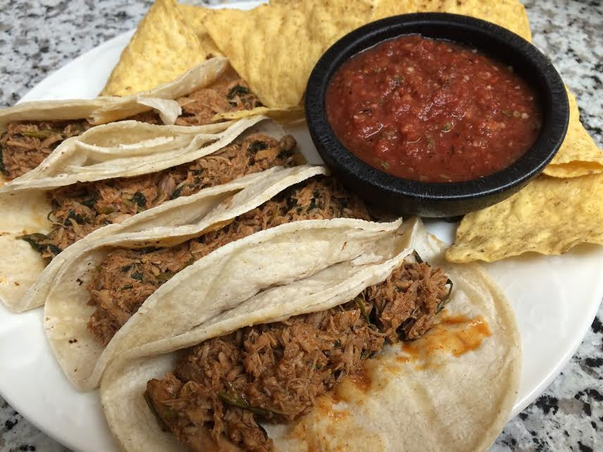 CILANTRO CARNITAS 3 TACO KIT- with rice, chips and salsa