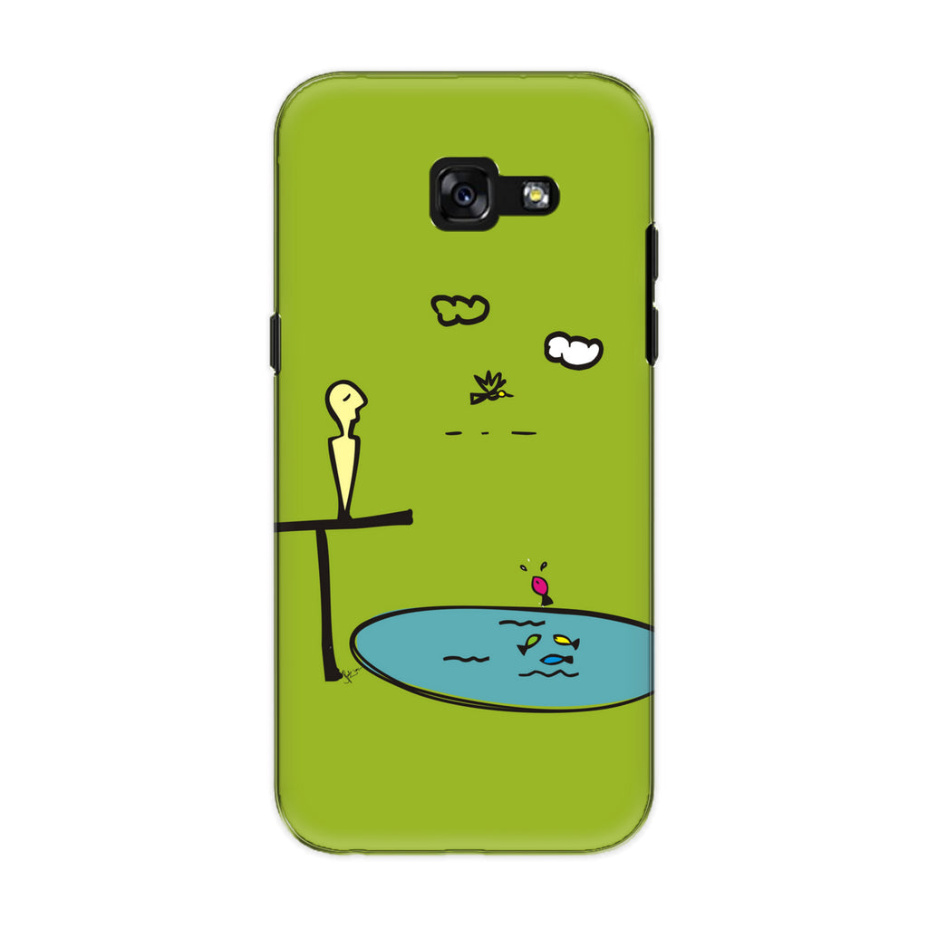 Contemplate 01 phone back cover for Samsung Galaxy A7 (2017)