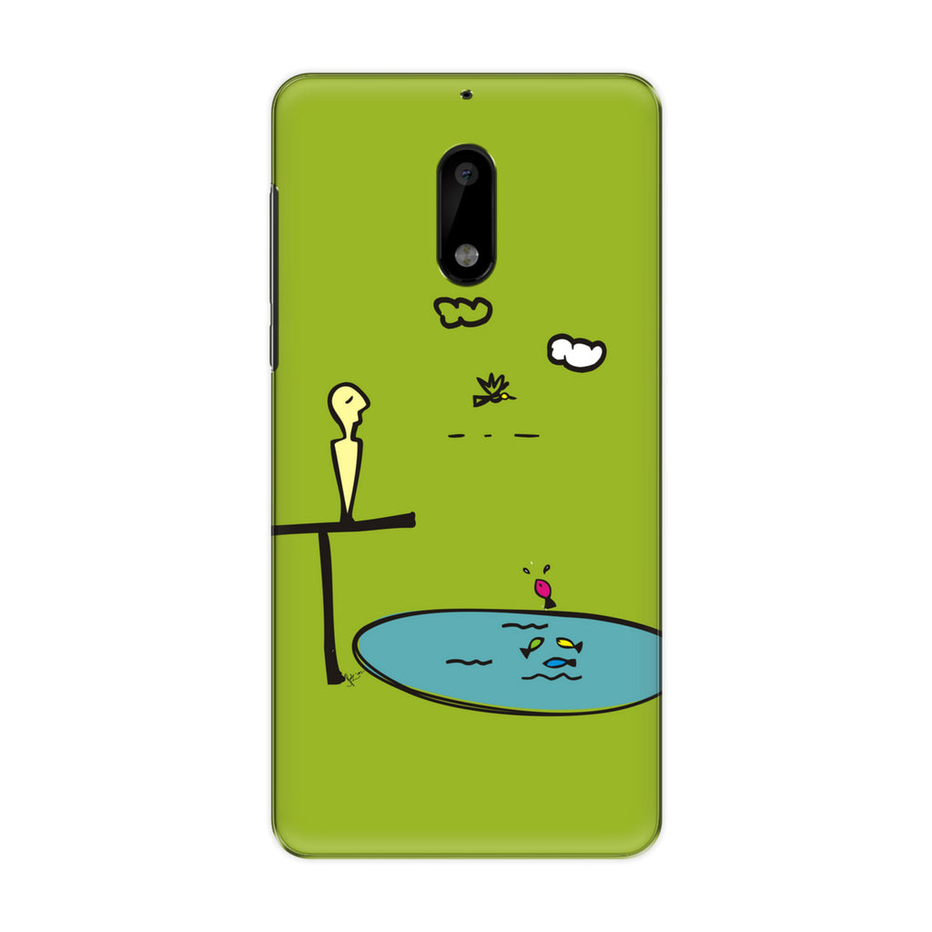 Contemplate 01 phone back cover for Nokia 3