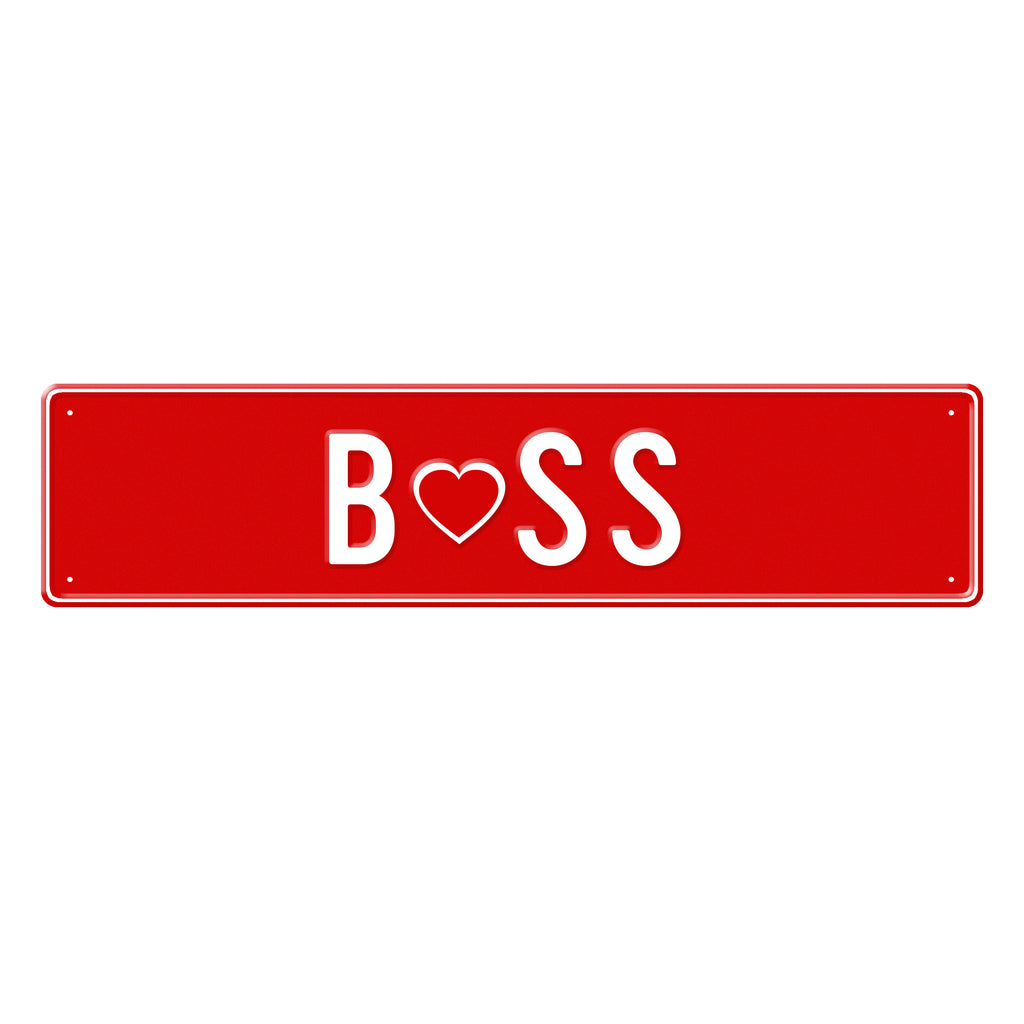 BOSS - Metal Sign
