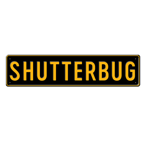 SHUTTERBUG - Metal Sign