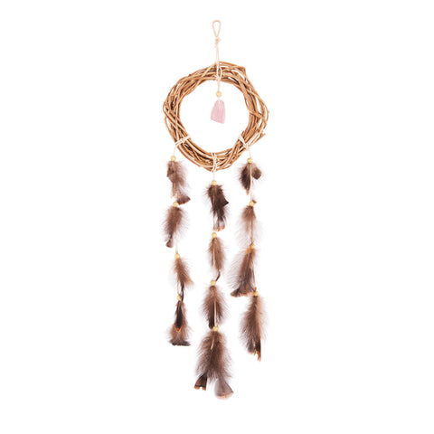 Rose Quartz Dream Weaver - The Woven Dream  - 1