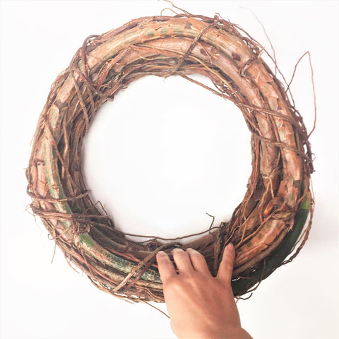 Woven Elephant Ear Philodendron Wreath