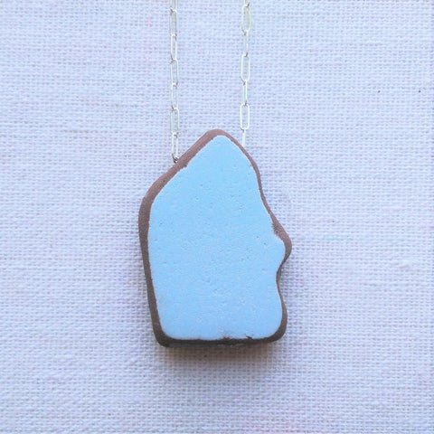 Moroccan Tile Tumbled by the Sea - Baby Blue
