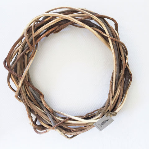 Woven Two Toned Loose Wreath