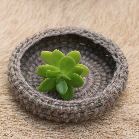 Natural Shallow Basket - The Woven Dream