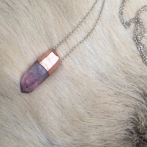 Amethyst Necklace - Chunky