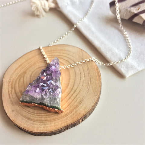 Amethyst Necklace - Triangle