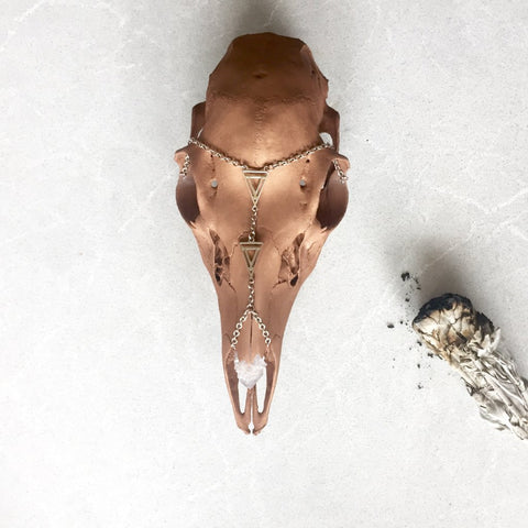 Deer Skull Copper + Spirit Quartz