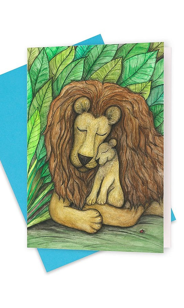 FATHERLY LOVE- Lion and Cub