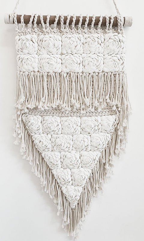 CAMELIA- Triangular Wall Macrame