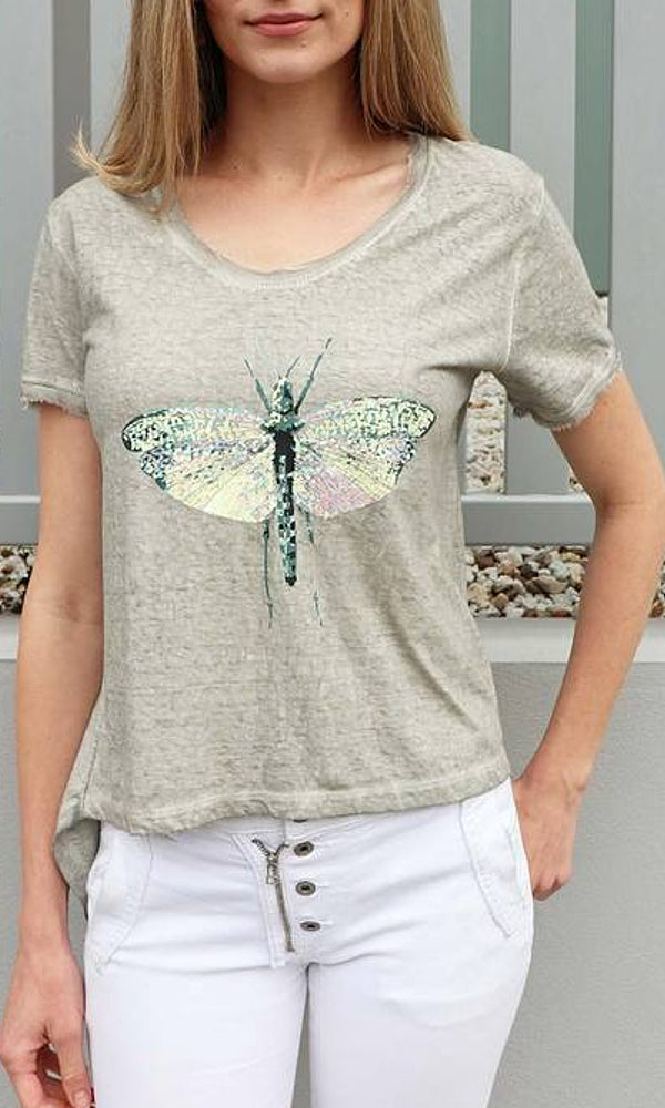 DRAGONFLY- Embellished Tee
