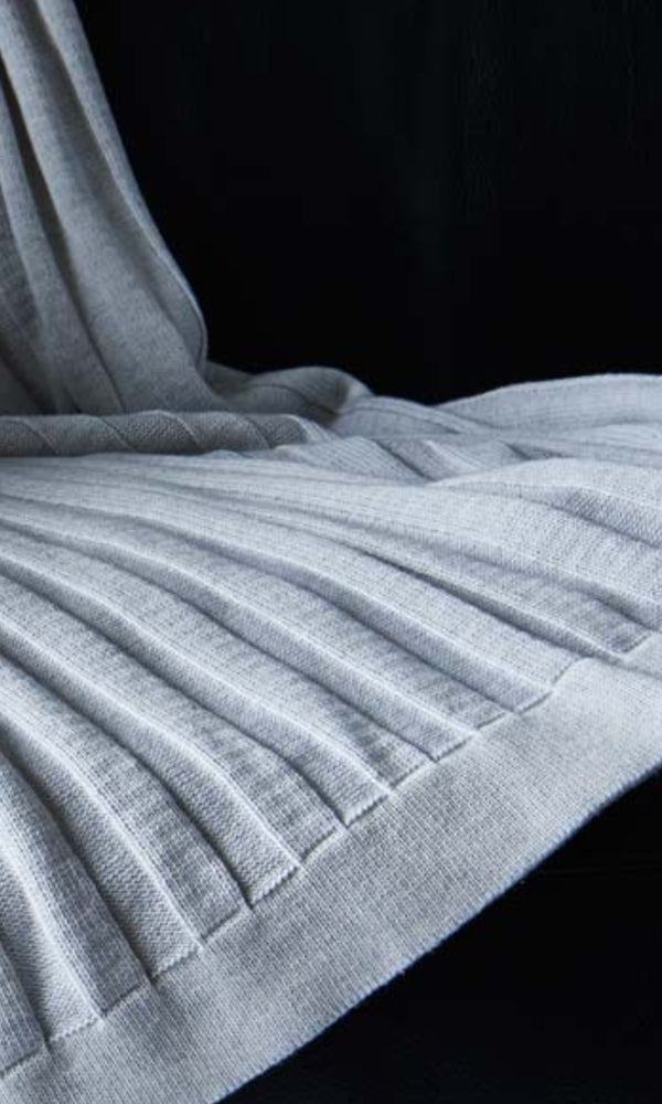 FLAT RIB- 100% Cotton Throw
