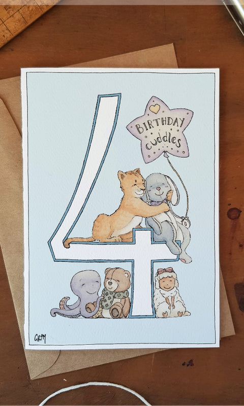 ERLENMEYER CARDS- 4Th Birthday