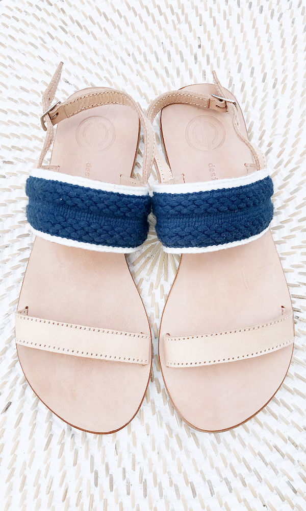 MARLEY- Navy Leather Sandal