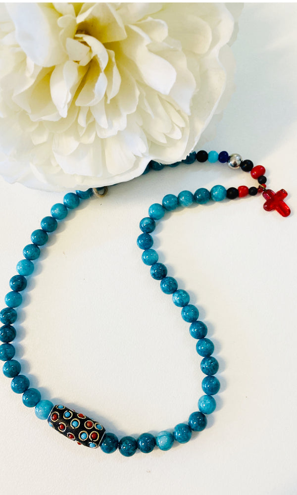 CROSS- Red Cross Necklace