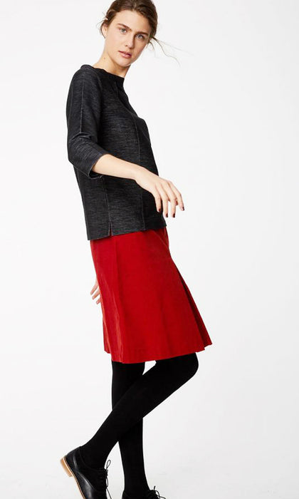 rubina organic cotton corduroy skirt in fox red